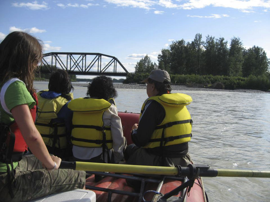 rafting train bridge