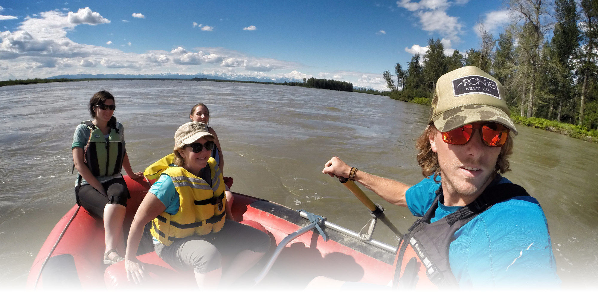 combing flag stop train with rafting the Susitna river